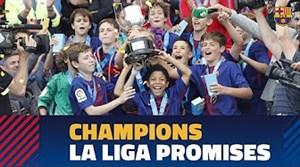 قهرمانی آکادمی بارسلونا در جام لالیگا پرامیس