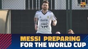 حضور مسی در تمرین آرژانتین در کمپ تمرینی بارسلونا