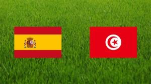 خلاصه بازی اسپانیا 1 - تونس 0