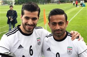 صحبتهای عزتاللهی، ابراهیمی و رضائیان در تمرین تیم ملی