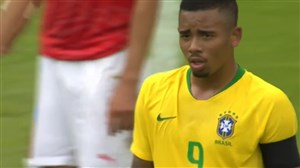گل اول برزیل به اتریش (گابریل ژسوس)