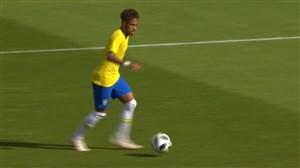 گل دوم برزیل به اتریش (نیمار)