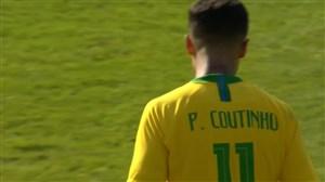 گل سوم برزیل به اتریش (کوتینیو)
