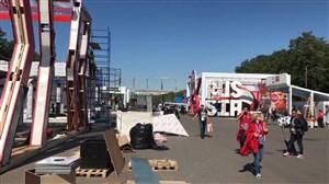 ورزشگاه لوژنیکی در حال آماده سازی برای دیدار افتتاحیه جام جهانی