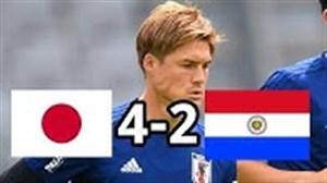 خلاصه بازی ژاپن 4 - پاراگوئه 2