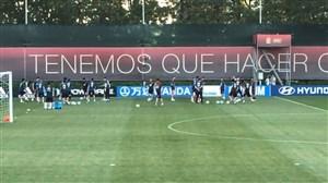 حضور هیرو در تمرین تیم ملی اسپانیا پس از اخراج لوپتگی