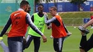 تمرین تیم ملی فرانسه یک روز مانده به شروع جام جهانی