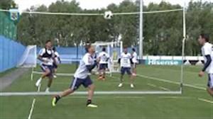 آخرین تمرینات تیم ملی آرژانتین قبل از شروع مسابقات