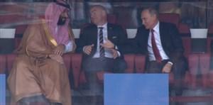 واکنش پوتین به ولیعهد عربستان پس از گل اول روسیه