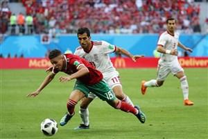 امیری، آزمون و بیرو بهترین بازیکنان ایران- مراکش