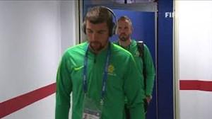 لحظه ورود بازیکنان استرالیا و فرانسه به ورزشگاه