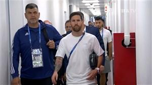 ورود به ورزشگاه و رختکن دو تیم آرژانتین - ایسلند