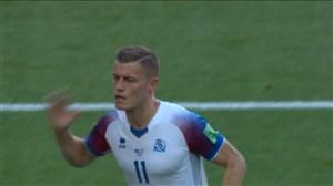 گل اول ایسلند به آرژانتین (آلفرد فینبوگاسن)