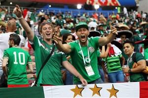 شادی مکزیکی ها از نتیجه بازی دیشب تیمشان