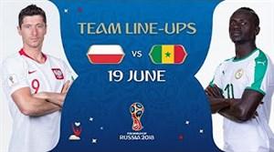شماتیک ترکیب دو تیم لهستان - سنگال