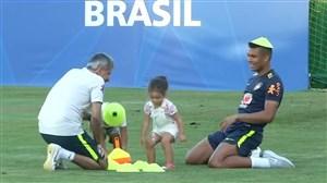 حضور فرزندان مارسلو و کاسمیرو در تمرینات برزیل