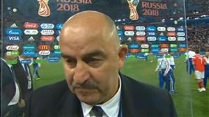 صحبت های چرچسوف و بازیکن روسیه پس از بازی با مصر