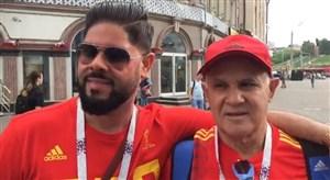 مصاحبه اختصاصی ورزش سه با هواداران اسپانیا