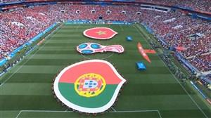ورود و سرود دو تیم پرتغال و مراکش
