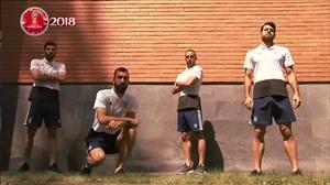 صحبتهایجذاببازیکنان تیم ملی قبل از بازی با اسپانیا