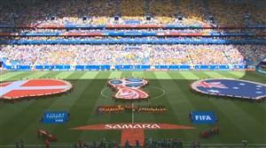ورود و سرود دو تیم دانمارک و استرالیا