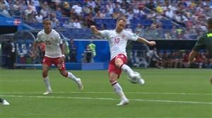 گل اول دانمارک به استرالیا (اریکسن)