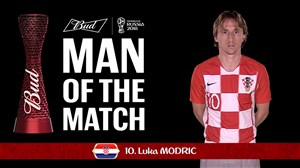 لوکا مودریچ برترین بازیکن دیدار کرواسی - آرژانتین