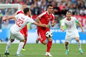 سوئیس 2 - 1 صربستان؛ بیخ گوش برزیل!
