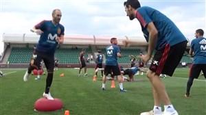تمرینات تیم اسپانیا بعد از بازی با ایران