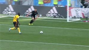 گل سوم بلژیک به تونس (دبل لوکاکو)