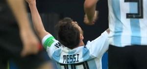 گل اول آرژانتین به نیجریه ( لیونل مسی )