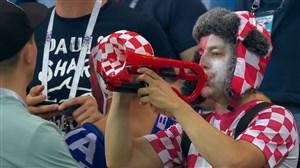 حذف ایسلند و واکنشهای هواداران پس از بازی (ایسلند-کرواسی)