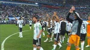 شادی و غم بازیکنان و هواداران آرژانتین - نیجریه
