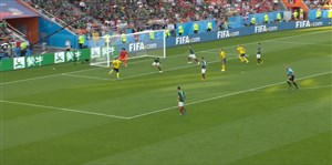 گل اول سوئد به مکزیک (آگوستینسن)