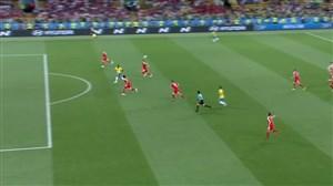 گل اول برزیل به صربستان (پائولینیو)