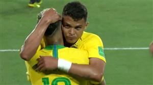 گل دوم برزیل به صربستان (سیلوا)