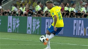 کنترل توپ دیدنی و تکنیکی نیمار در بازی با صربستان