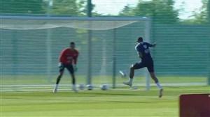تمرین تیم ملی فرانسه برای تقابل با آرژانتین