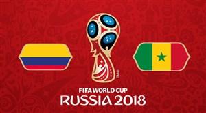 خلاصه بازی سنگال 0 - کلمبیا 1 (جامجهانی روسیه)