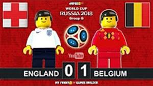 شبیه سازی دیدار انگلیس - بلژیک با لگو