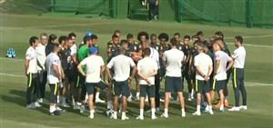 تمرین تیم ملی برزیل برای بازی با مکزیک