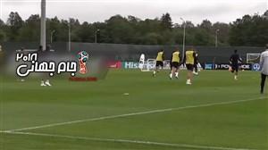 تمرینات امروز تیم ملی انگلیس