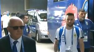 ورود بازیکنان فرانسه و آرژانتین به استادیوم کازان