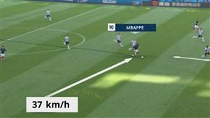 تخمین سرعت کیلیان امباپه روی ضدحمله فرانسه