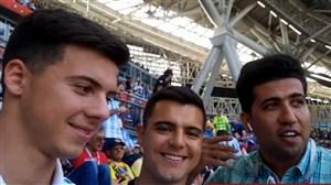مصاحبه با دو هوادار آرژانتین بین دو نیمه بازی با فرانسه