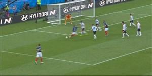 گل سوم فرانسه به آرژانتین (امباپه)