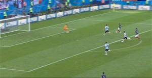 گل چهارم فرانسه به آرژانتین (دبل -  امباپه)