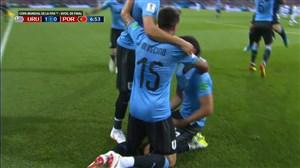 گل اول اروگوئه به پرتغال (کاوانی)