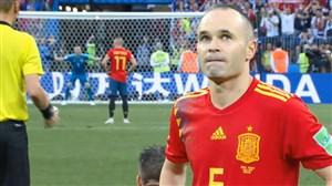 پنالتیهای بازی اسپانیا 3 - روسیه 4 (گزارش انگلیسی)