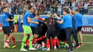شادی و غم پس از بازی دراماتیک کرواسی - دانمارک